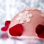 The Ispahan Buche with strawberry and lychee