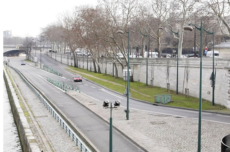 Here is the river bank near the Invalides and Concorde Bridge today, a short walk from many of our Paris apartment rentals.
