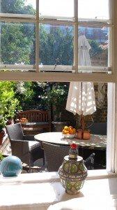 Living room towards patio garden