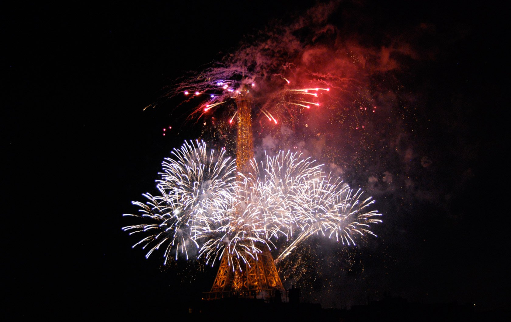 Fireworks in Paris! Bastille Day Celebrations