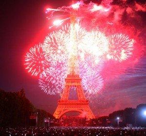 Fireworks in Paris! Bastille Day Celebrations