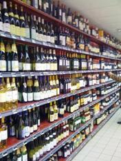 Supermarkets also sell wine