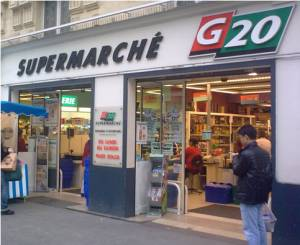 G20 Supermarket in Paris