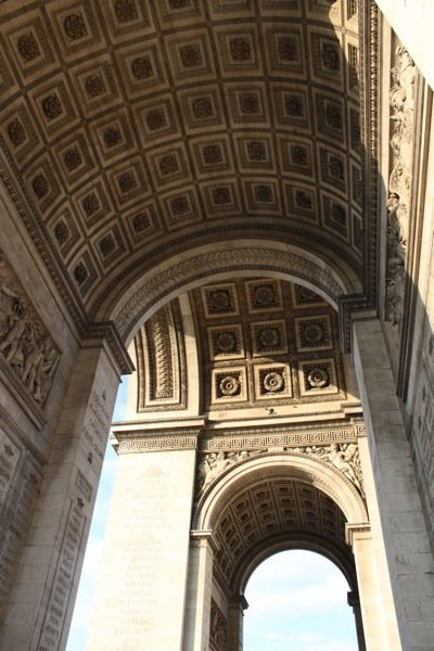 internal arch arc de triomphe
