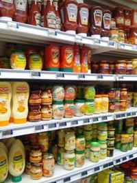 The salad dressing and sauce aisle