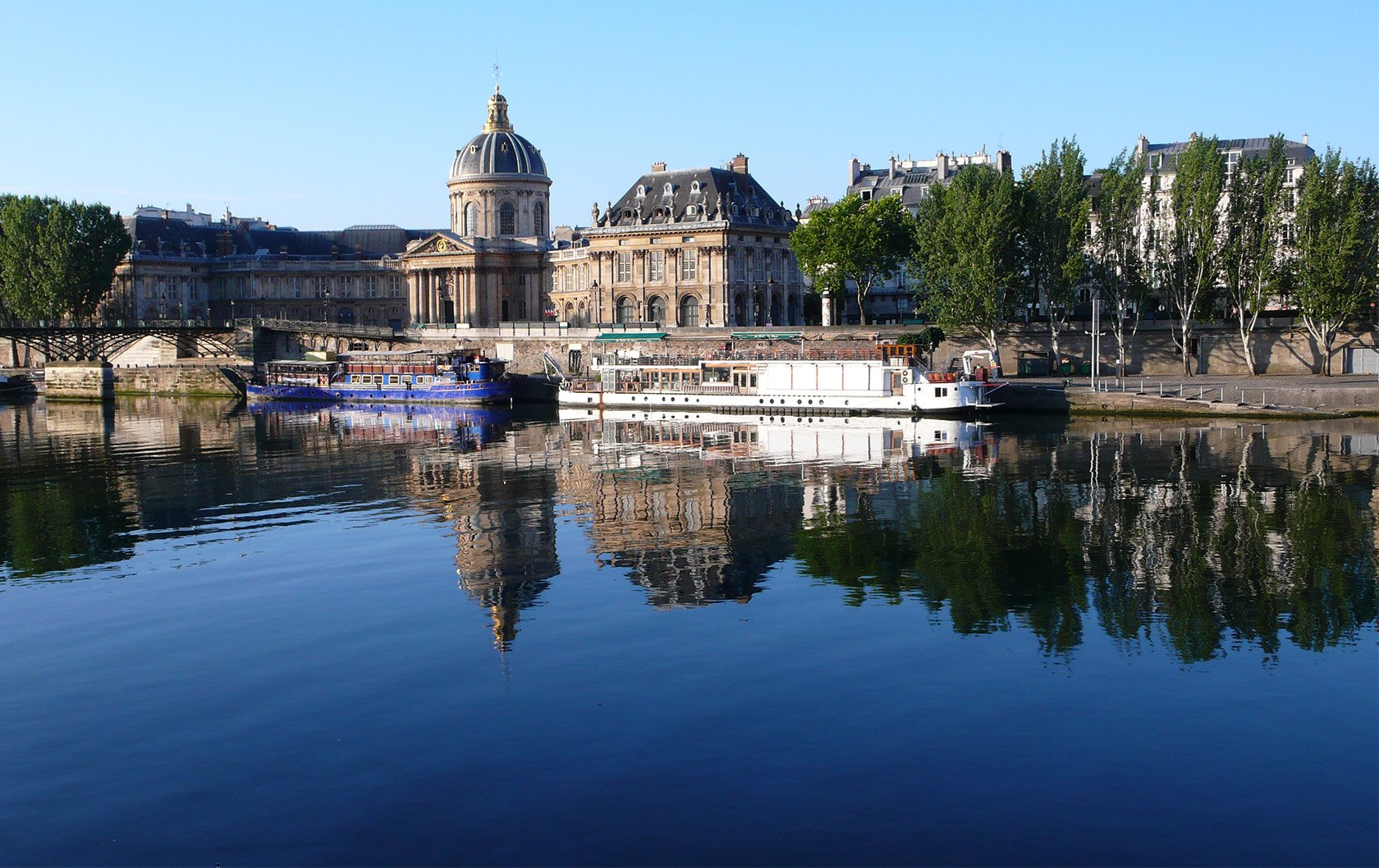 Beautiful Reflections on the Seine River