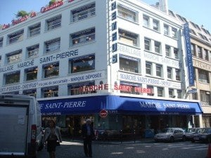 Place St. Pierre is the heart of discount fabrics in Paris