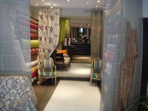 Exclusive furnishing fabrics on rue d'Orsel in Paris