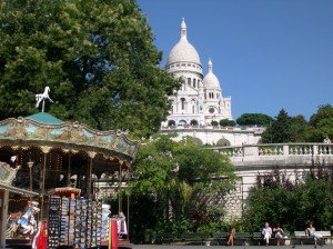 Montmartre is a mix of old Paris and high touristy.