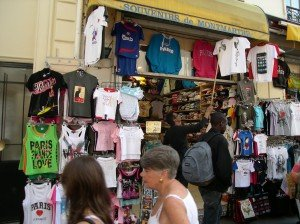 Many fabric stores in this area have transformed into souvenir shops.