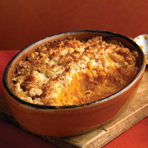 Pumpkin and Goats Cheese Gratin with Hazlenut Topping