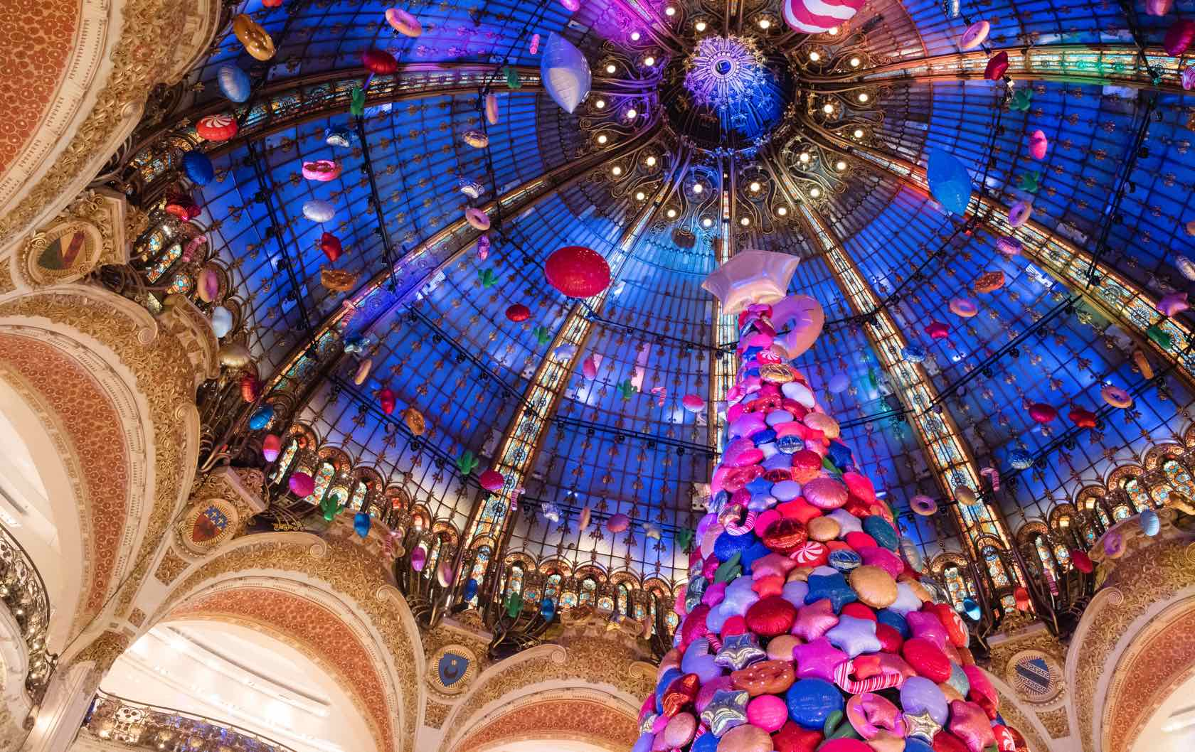 How to Spend Christmas in Paris by Paris Perfect Galeries Lafayette