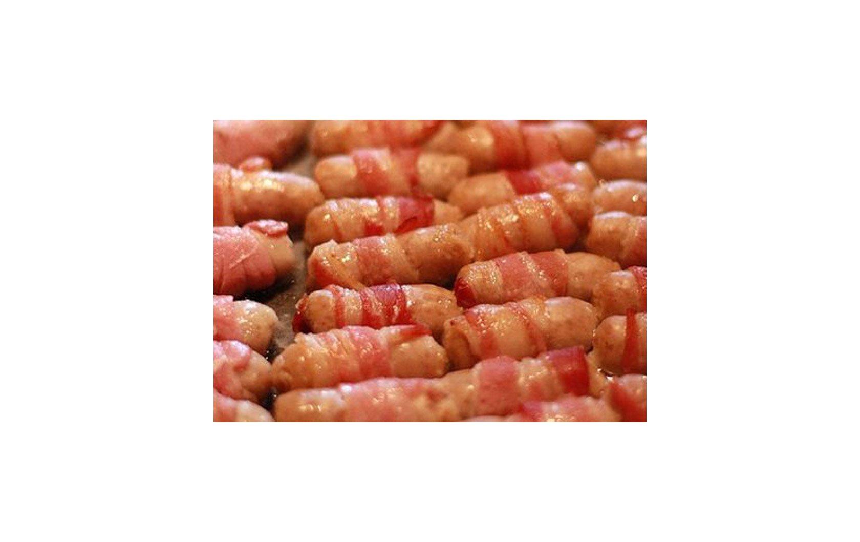 Bacon Wrapped Chipolatas