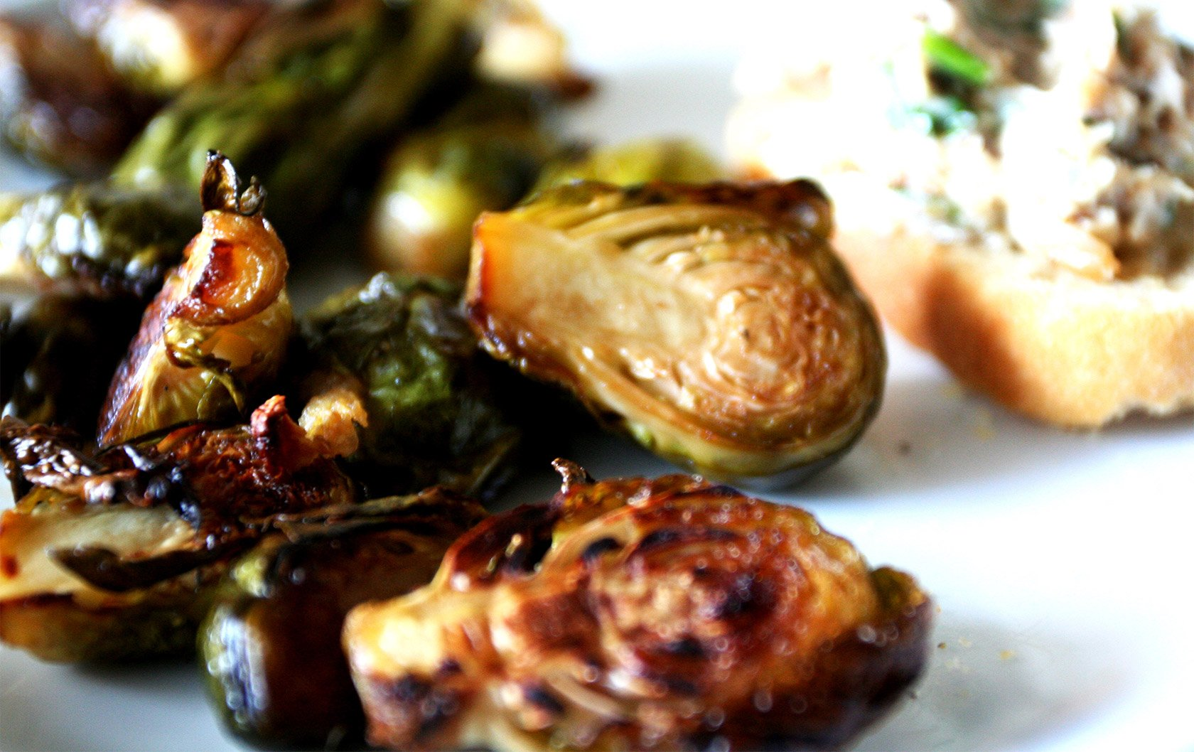 Brussel Sprouts with Chestnuts & Ham