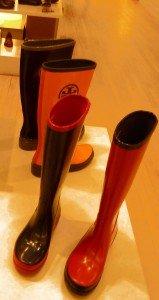 Fashion forward rain boots too...