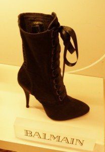 The Balmain Lace-up boot; simply gorgeous