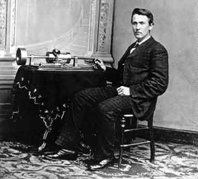 Thomas Edision and his Cylinder Phonograph; a roaring hit at the 1889 Exposition in Paris