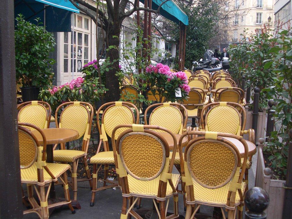 Left bank cafe's in Paris