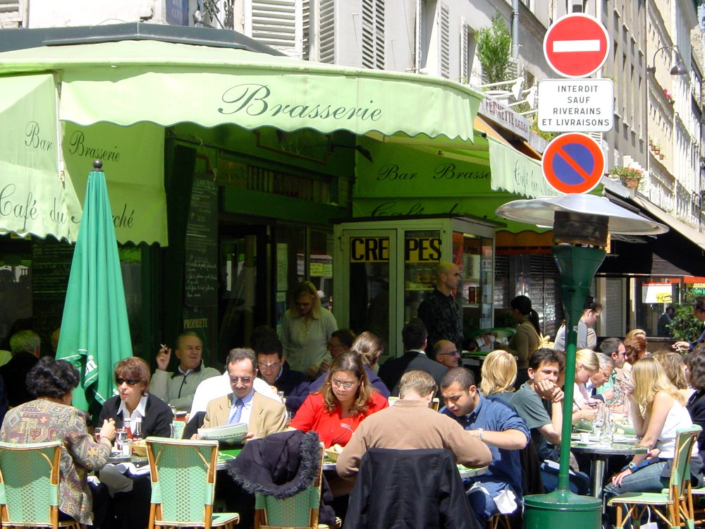 Cafe' du Marche on rue Cler in Paris Near the Eiffel Tower