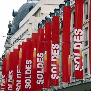 Les Soldes!  The Paris Sales have begun!