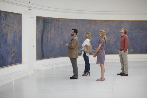 Admiring Monet at l'Orangerie