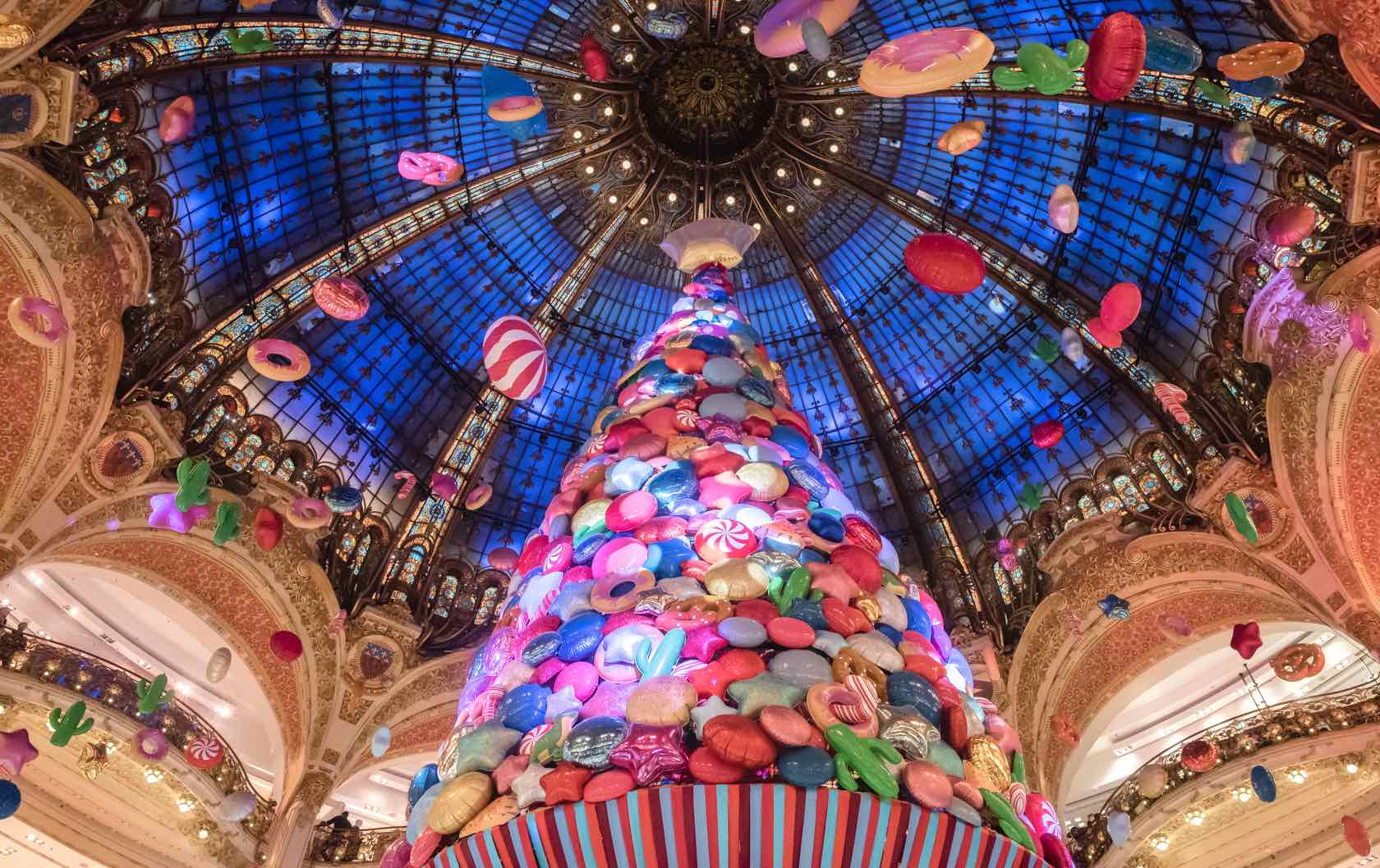 Christmas Shopping in Paris at Galeries Lafayette & Printemps