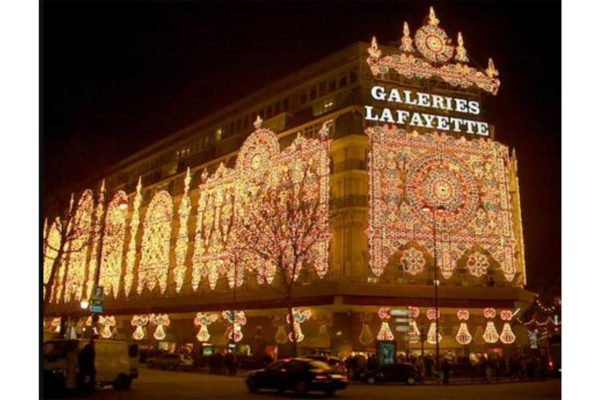 galeries-lafayettes-night
