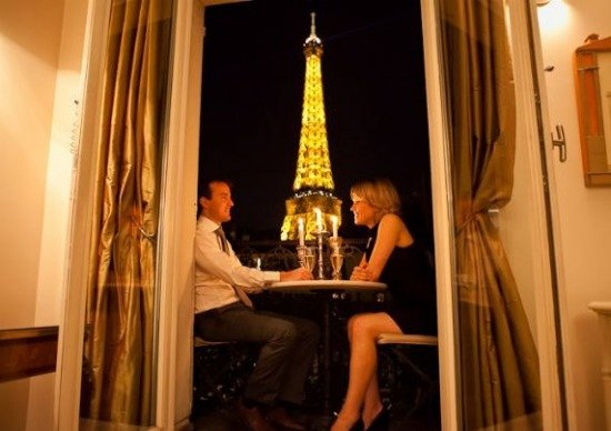 Romantic Eiffel Tower view from Paris Apartment