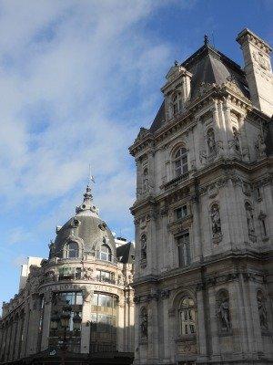 Hotel de Ville and BHV shopping in Paris