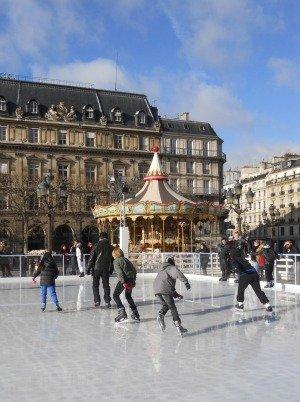 Ice skating in Paris Hotel de Ville