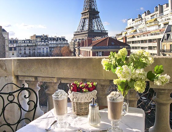 Before after introducing the enchanting madiran paris for Balcony with view