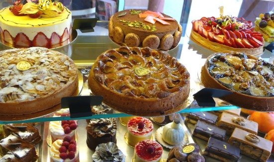 Beautiful Paris Cakes on display
