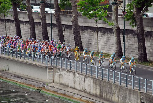 Tour de France Paris Stage Seine River