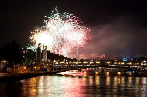 Watch Bastille Day Fireworks over the Seine