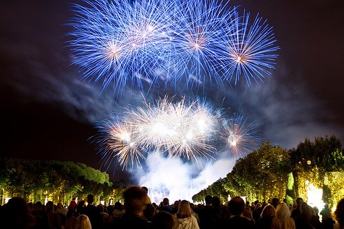 Enjoy the light and firework display at the Versailles Royal Palace