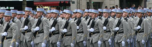 French Soldiers in Bastille Day Parade Paris