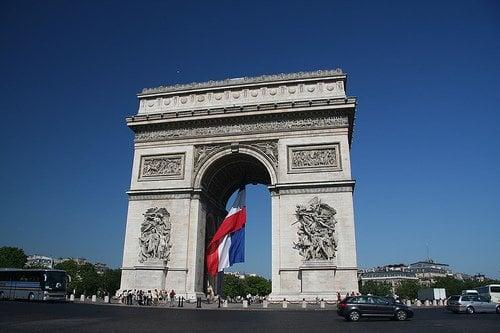 Paris Bastille Day French Flag Arc de Triomphe