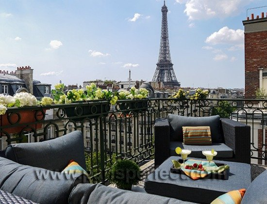 outstanding views of the eiffel tower from the margaux s huge wrap