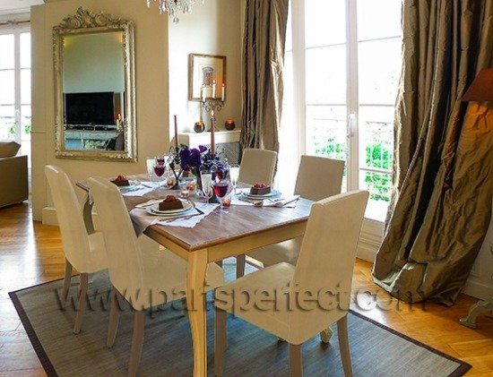 Paris Perfect Vacation Rental Dining Room