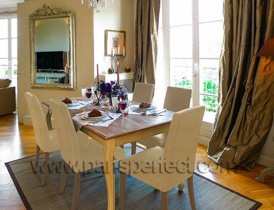 Paris Perfect Vacation Rental Dining Room