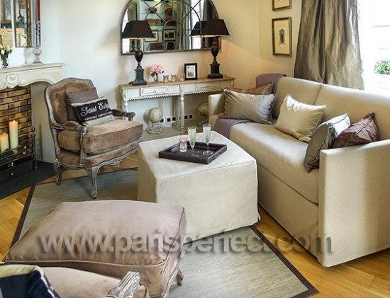 Paris Perfect Vacation Rental Living Room with Balcony