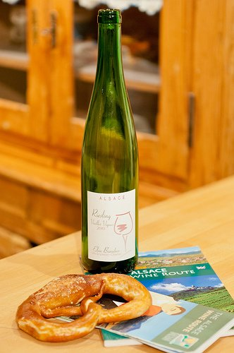 Alsace Wine Bottle Riesling