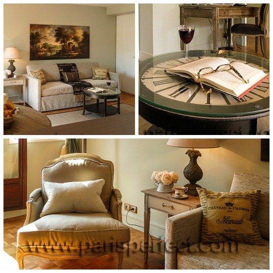 Beautiful living room in Paris Vacation Rental