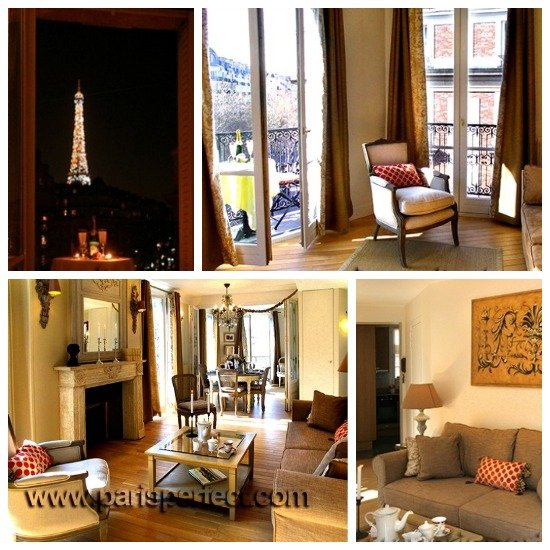 Paris Perfect three bedroom vacation rental with Eiffel Tower View