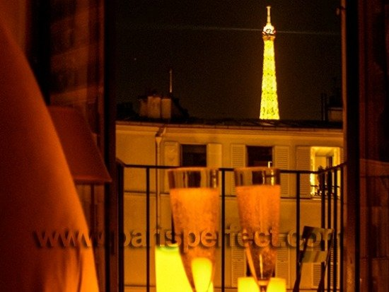 View of Eiffel Tower From Bed Paris Perfect Apartment Rental