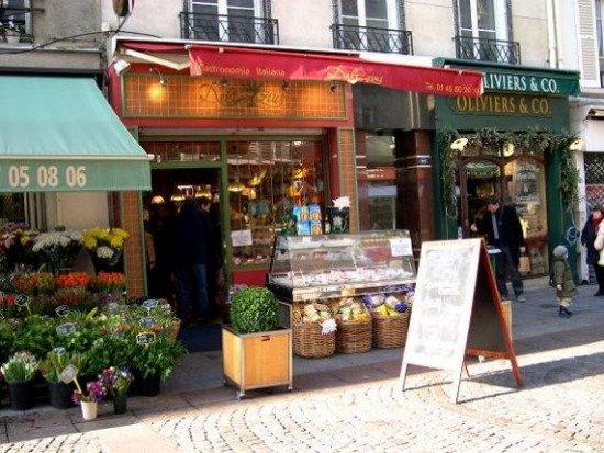 Rue Cler Food Market Street in Paris