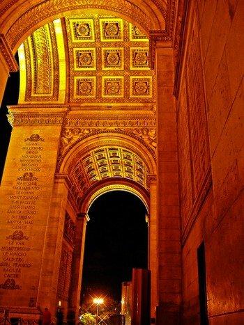 Visiting the Arc de Triomphe in Paris at Night