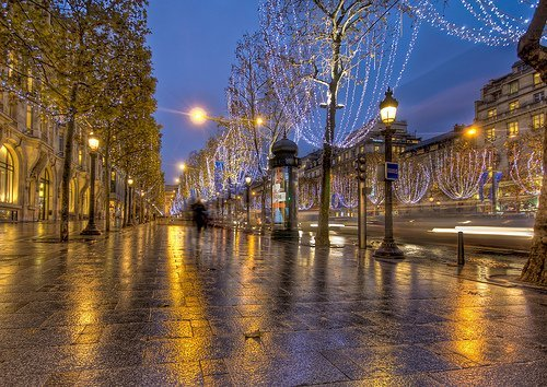Christmas Lights on the Champs Elysees Paris