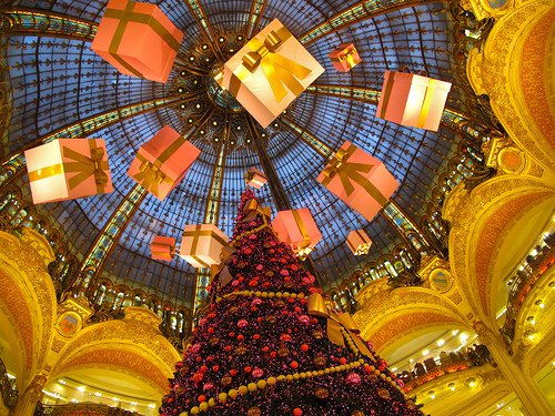 Holiday shopping at Galeries Lafayette in Paris