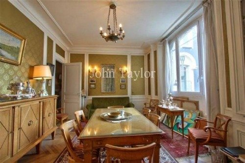 Jules Lavirotte Building Paris Apartment for Sale Dining Room